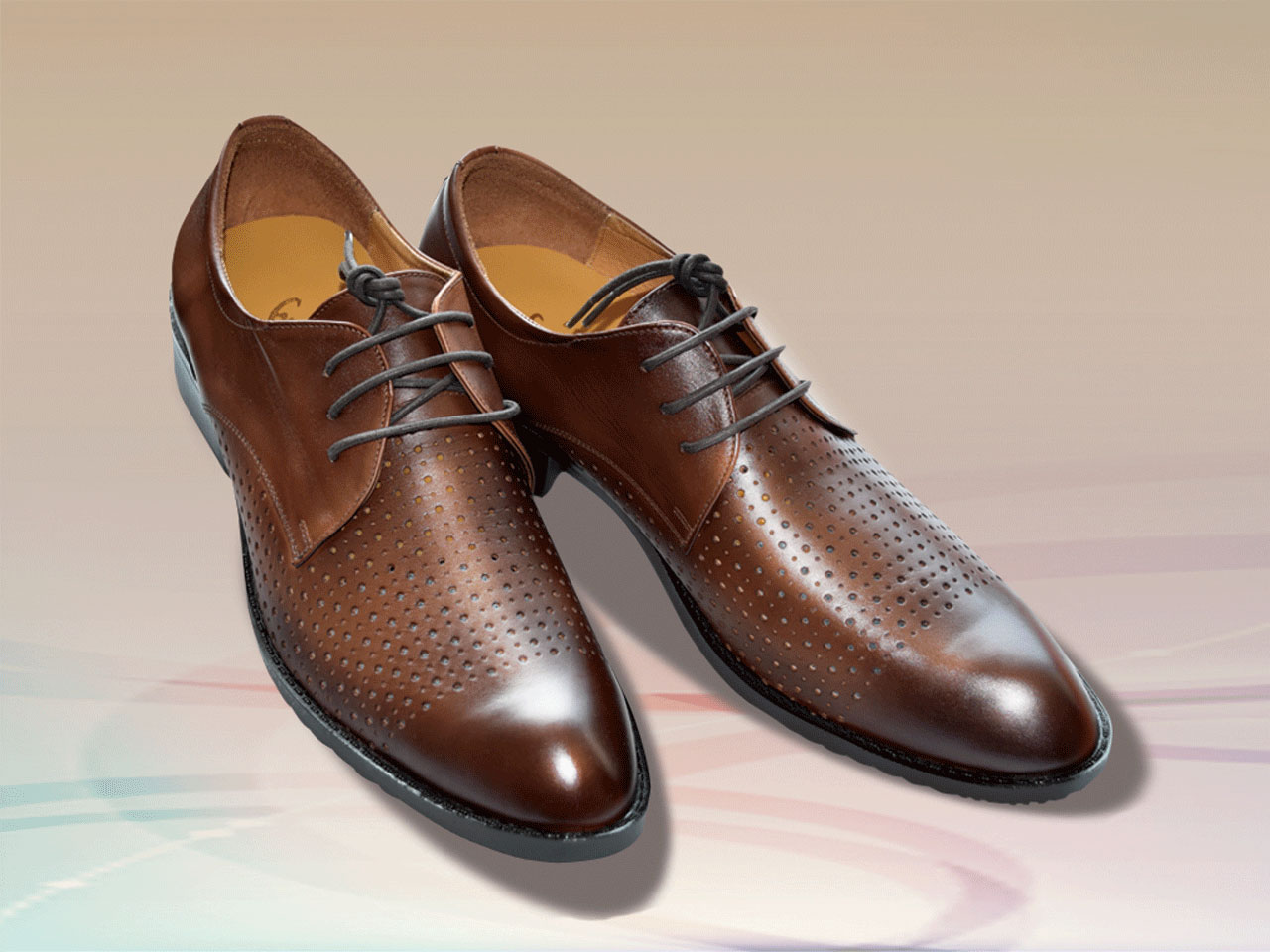 Summer leather shoes for men